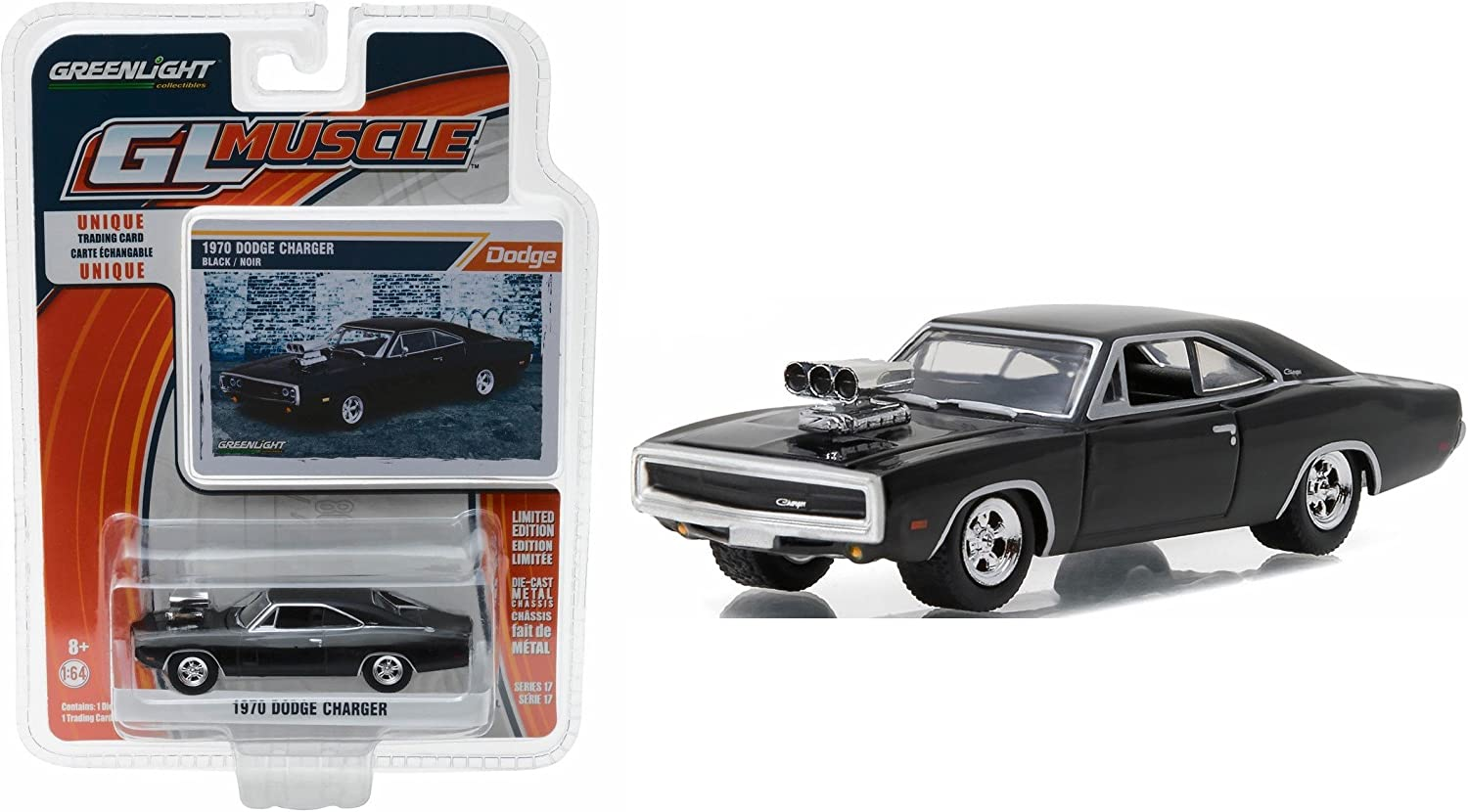GREENLIGHT MUSCLE 1970 Dodge Charger with Blown Engine 1//64 DIECAST 13170-B