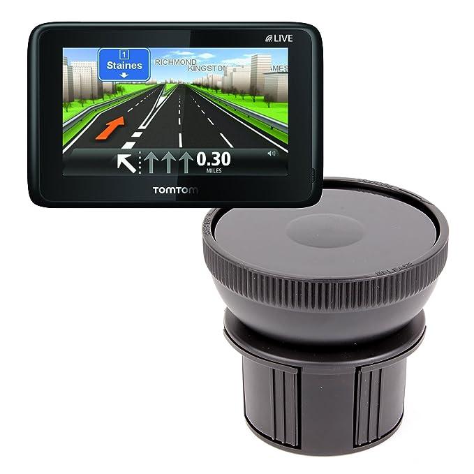 DURAGADGET - Base de soporte para portavasos de coche para GPS TomTom START 2, 25, 60, XL 23 Europe & Classic: Amazon.es: Electrónica