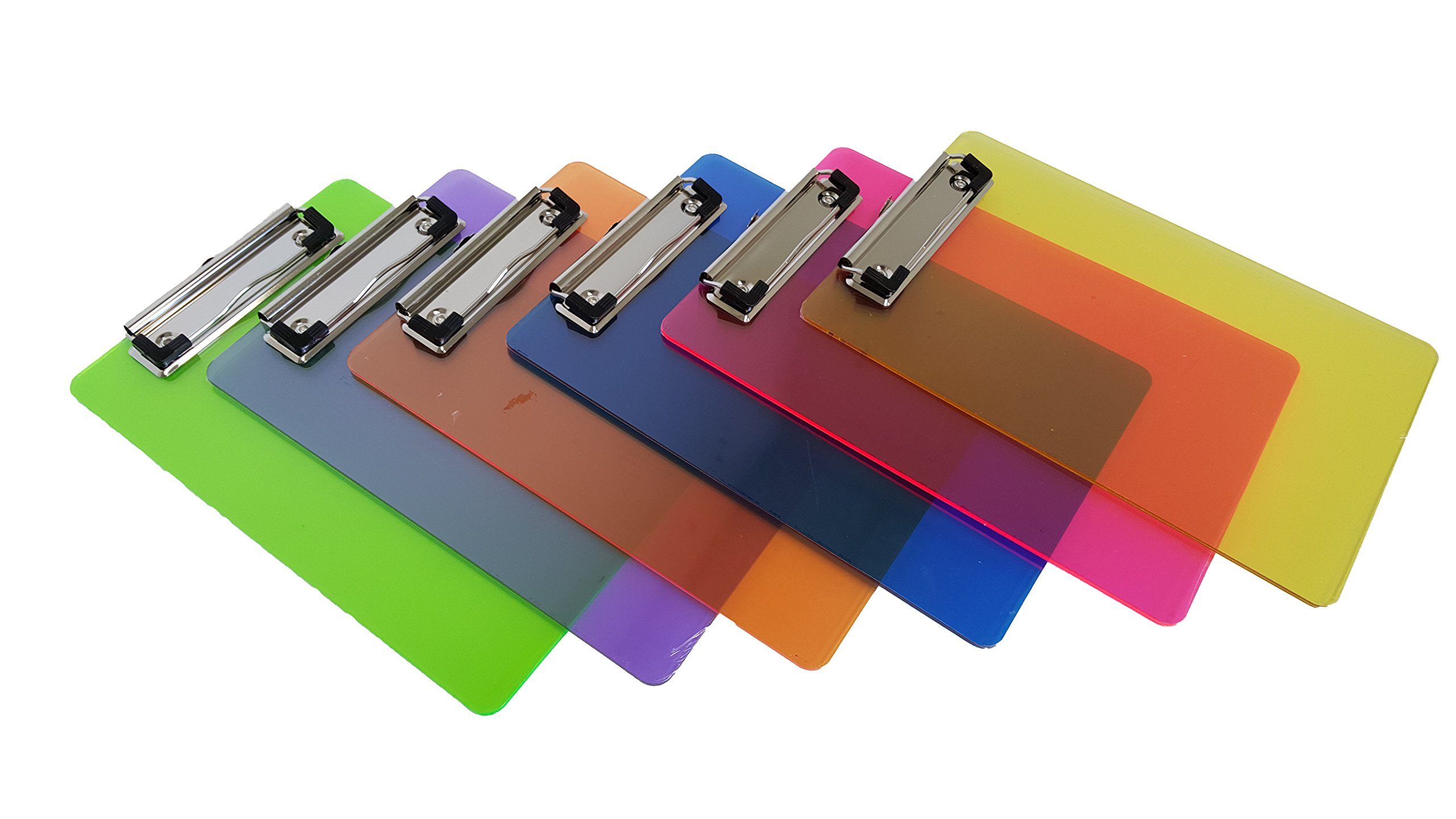 Mini Multicolored Clipboards, By Dondor (9'' x 6'' Inches, Multicolored)