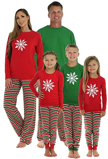aafc077789 Amazon.com  SleepytimePjs Family Matching Sleepwear Knit Striped Pajamas PJ  Sets  Clothing
