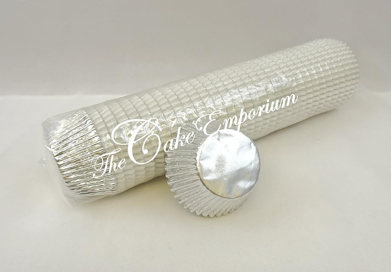 500 Bulk Buy Quality Professional Silver Cupcake / Muffin Foil Bun Cases The Cake Emporium Ltd
