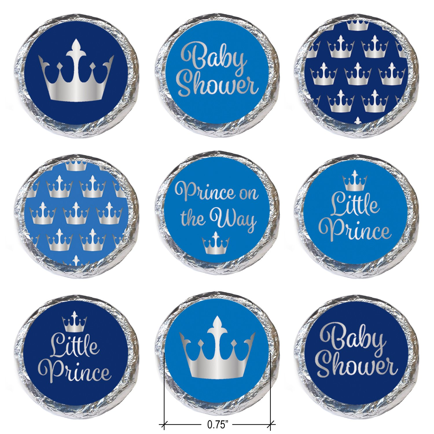 Amazon Little Prince Royal Baby Shower Stickers 324 Count
