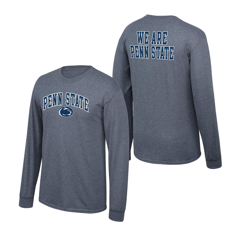 Elite Fan Shop NCAA Mens Penn State Nittany Lions Long Sleeve Shirt Dark Heather Back Penn State Nittany Lions Dark Heather Small