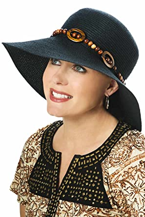 31319622b7849 Wooden Bead Sun Hat - Sun Protection Hat for Women - Cancer