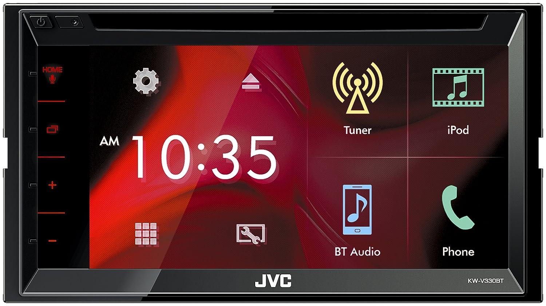JVC KW-V330BT Bluetooth Negro Receptor Multimedia para Coche Radio para Coche 4.0 Canales, FM,LW,MW, 87,5-108 MHz, 153-279 kHz, MOSFET, 17,3 cm 6.8