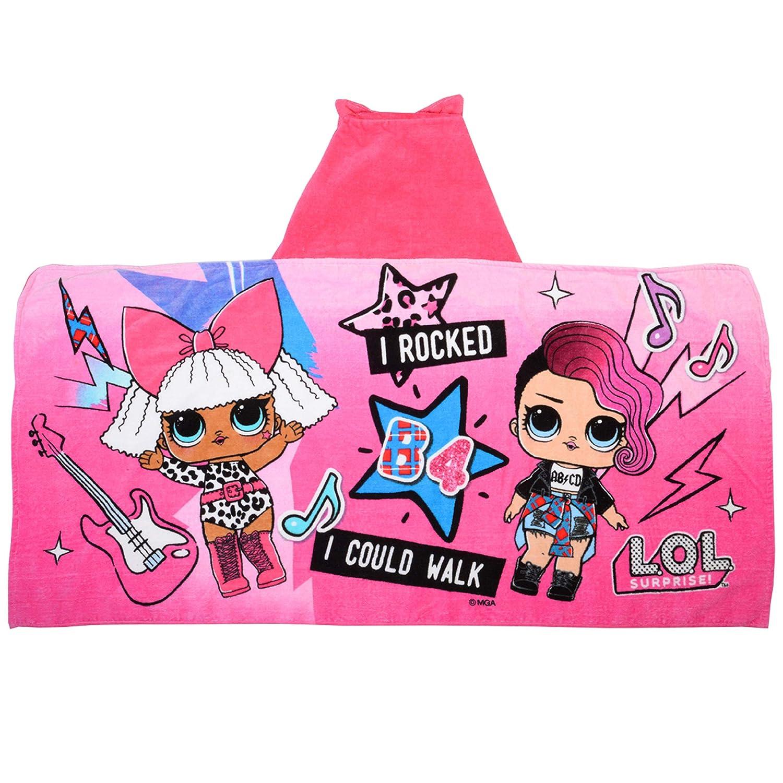 "Amazon.com: L.O.L. Surprise Soft Cotton Hooded Bath Towel Wrap 24"" x 50"" Pink with Stripes: Home & Kitchen"
