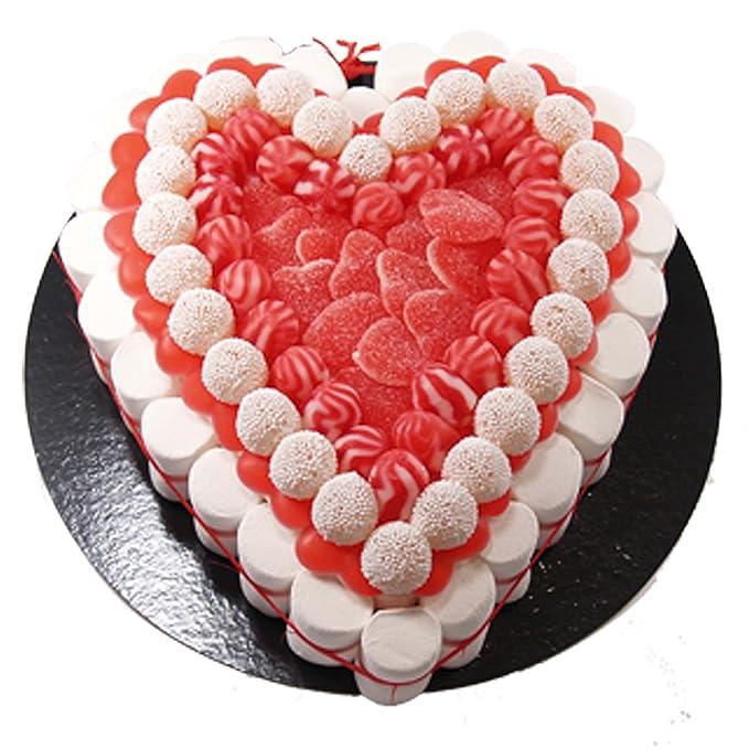 Tarta de golosinas -Heart 27 cm