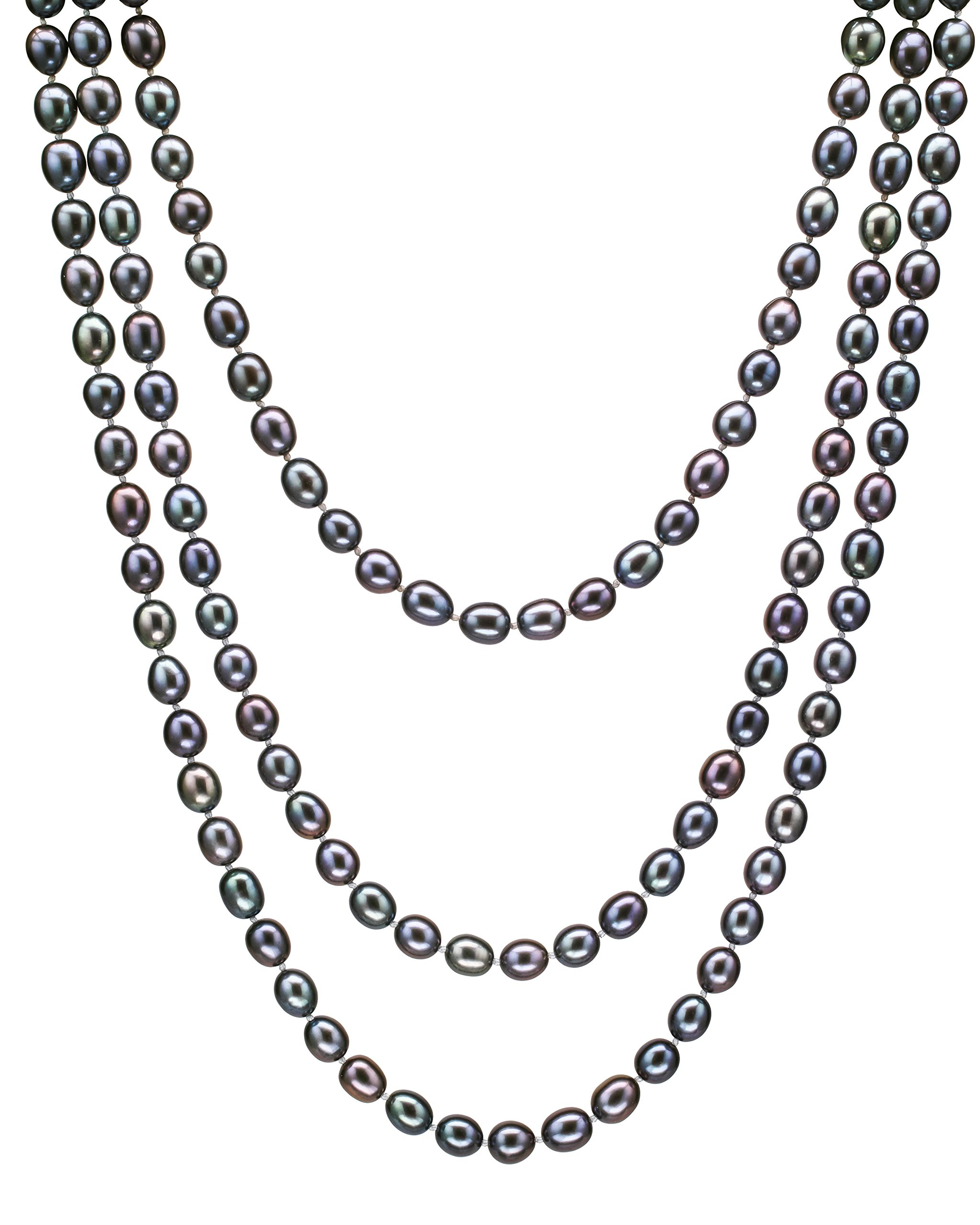 Hinsongayle Aaa Handpicked 8-8.5Mm Multicolor Black Oval Freshwater Cultured .. 18