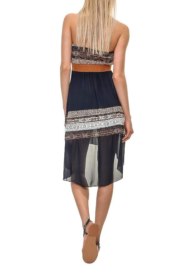 e7db46a75b4004 Hailys Damen Bandeau Kleid Off Shoulder Sommerkleid: Amazon.de: Bekleidung