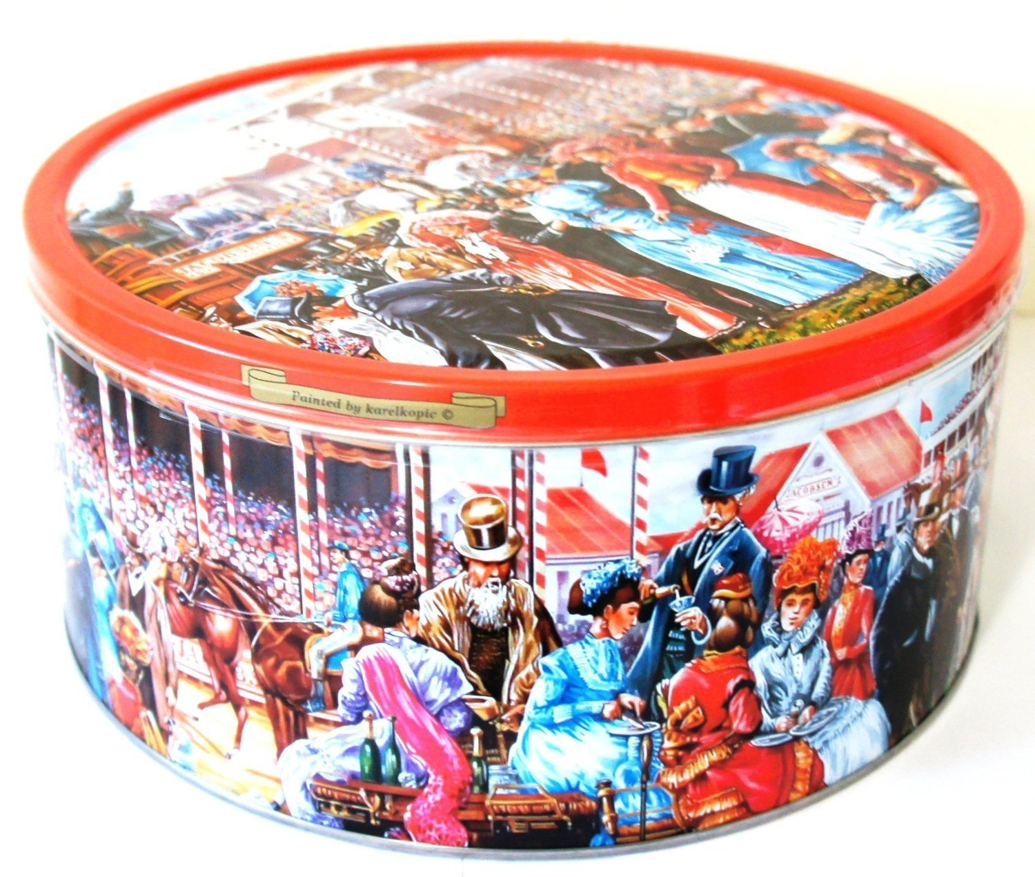 Ind Creations - A Day At The Races - Imported Danish Butter Cookies made by Jacobsen's Bakery Ltd.