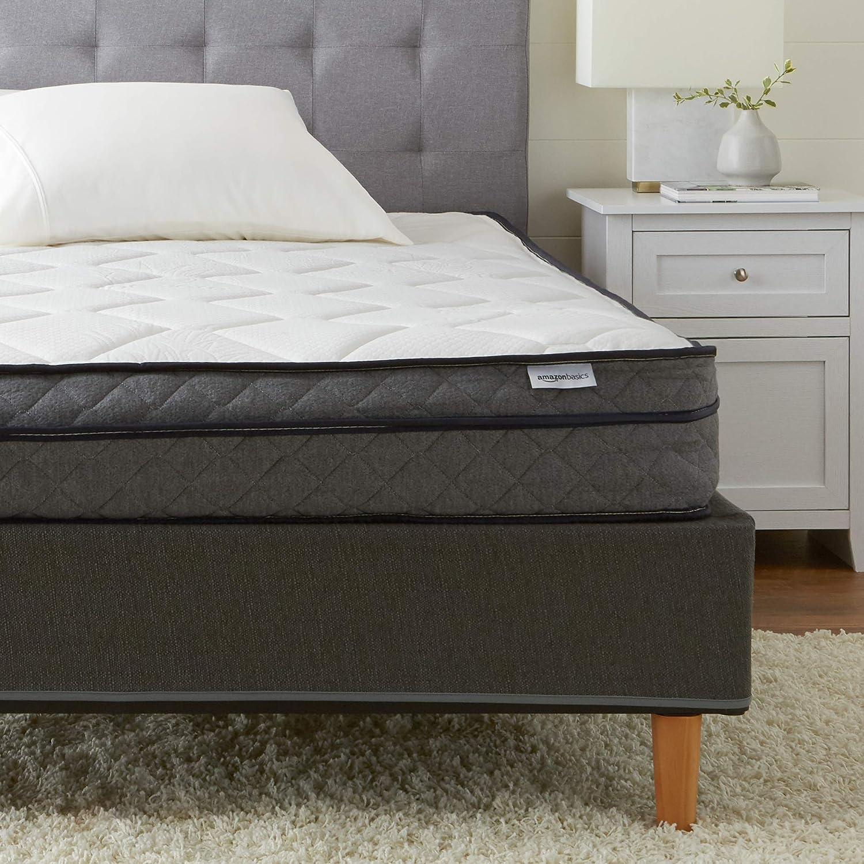 AmazonBasics Premium Foam Eurotop Mattress - CertiPUR-US Certified - 9-inch, Twin