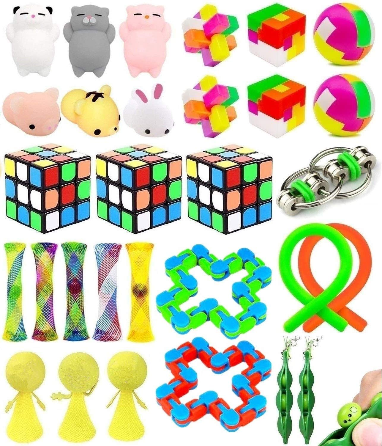Fidget Toys Set, Sensory Toys Bundle for Stress Relief, Sensory Fidget for Kids and Adults, Sensory Gadget for ADHD Anxiety Autism
