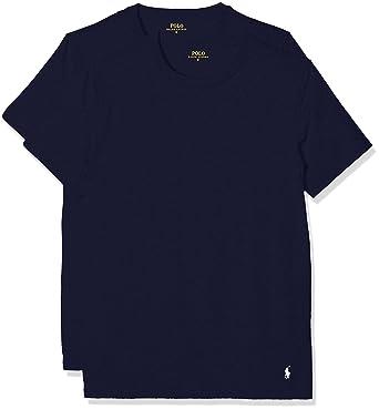 8ff29ebe8368 Polo Ralph Lauren Herren T-Shirt Classic, 2er Pack, Blau (2Pk Navy