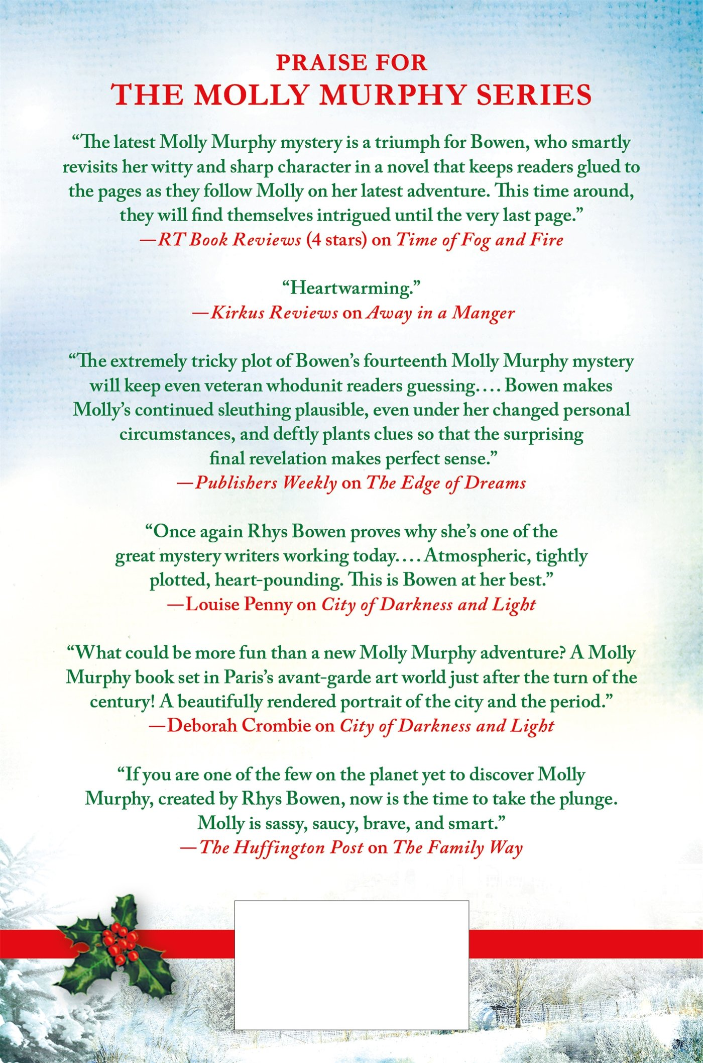 The Ghost of Christmas Past: A Molly Murphy Mystery (Molly Murphy ...