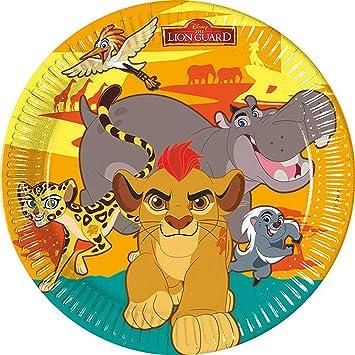 Platos para fiestas de Lion Guard de Disney, 23 cm, pack de ...