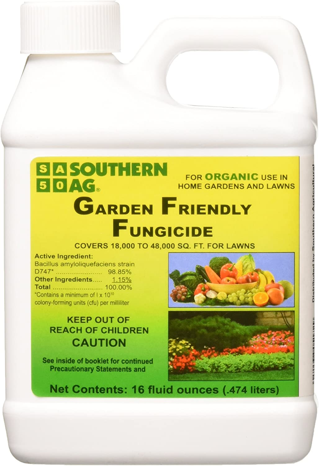 Southern Ag Garden Friendly Biological Fungicide,16oz