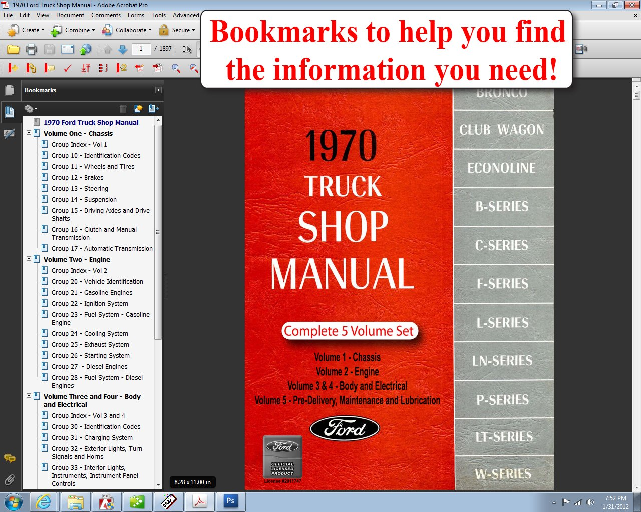 1970 Ford Truck Shop Manual Motor Company David E Leblanc F100 9781603710787 Books