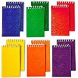 """Kidsco Spiral Prism Notepads - 2.25"""" X 3.5"""" 20 Pages Each - Pack of 12 - Assorted Colors Mini Spiral Bound Memo Pad, Pocket Size - for Kids Great Party Favors, Bag Stuffers, Fun, Gift, Prize"""