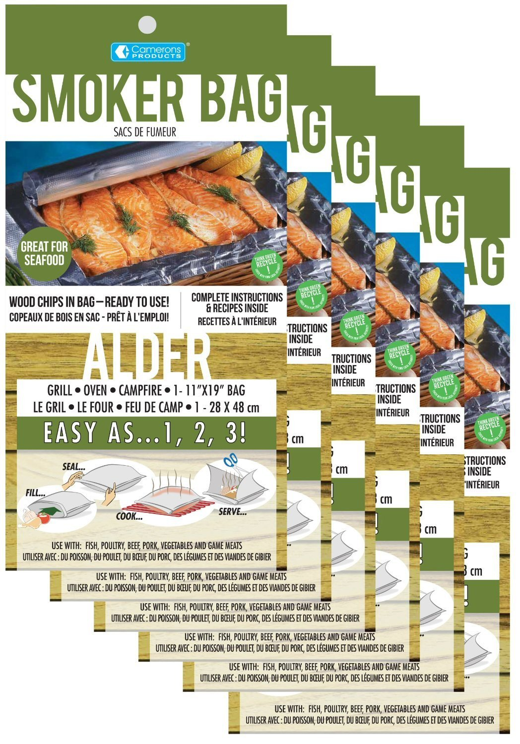 Savu Smoker Bag, Alder, For Oven or Grill, 28 x 42cm Bags (Pack of 12) by SAVU
