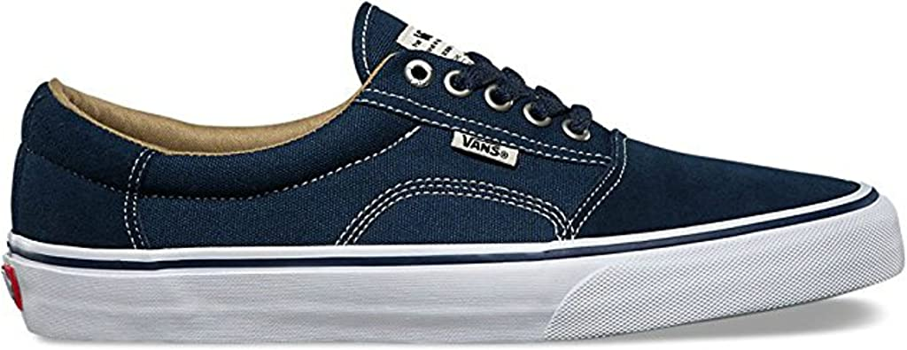 Navy White Skate Shoes-Men (Medium