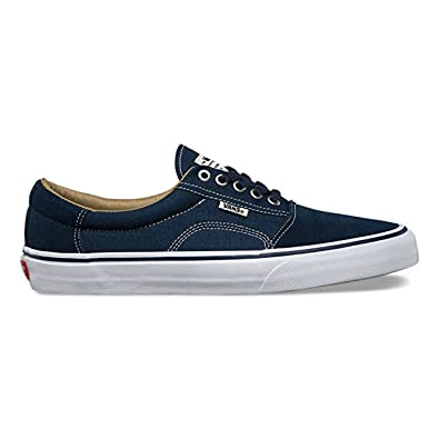 6eddf5b821 Vans Rowley (Solos) Navy White Skate Shoes-Men (Medium   7 D