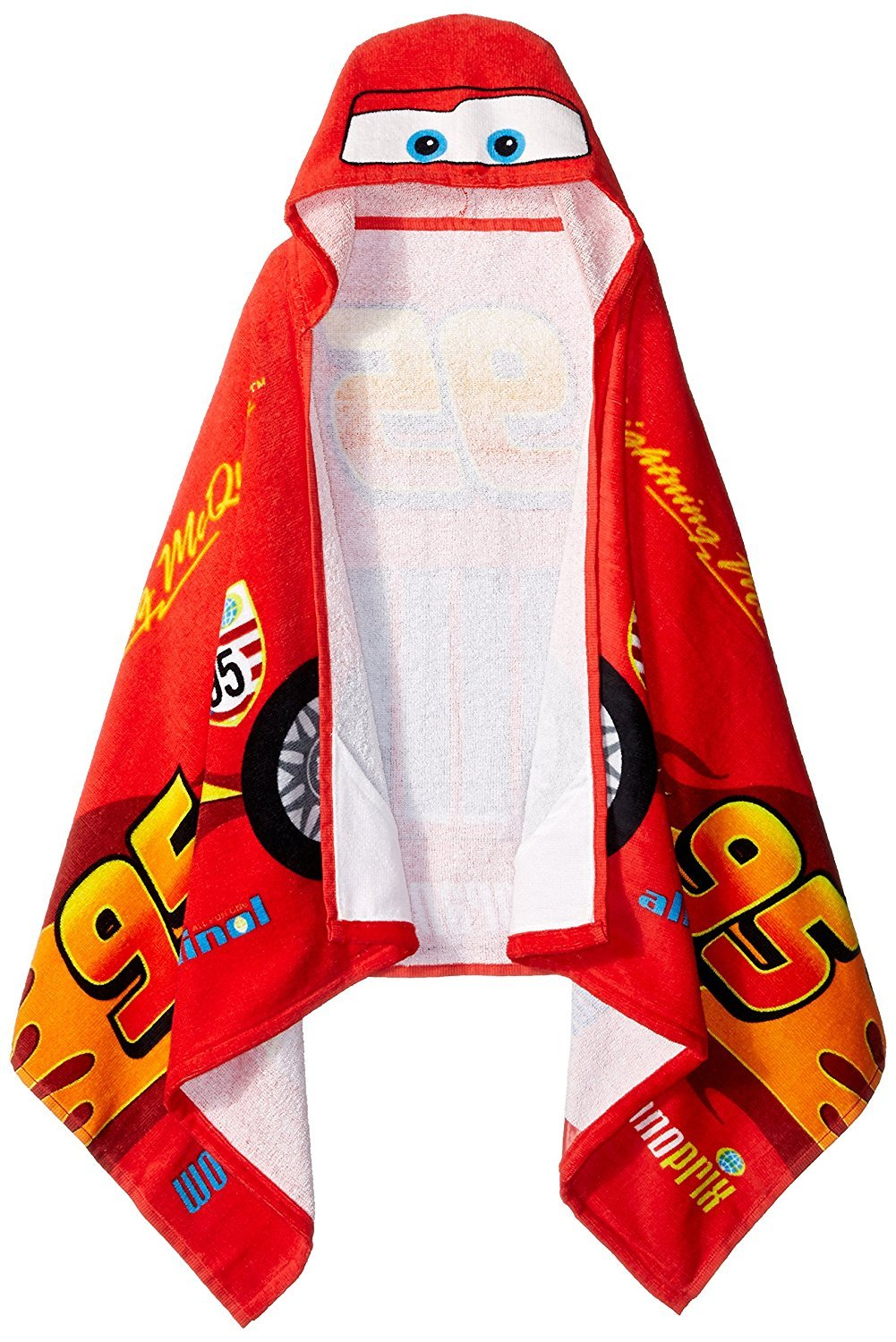 "Jay Franco Disney/Pixar Cars Tune Up Hooded Cape Towel, 22"" x 51"""