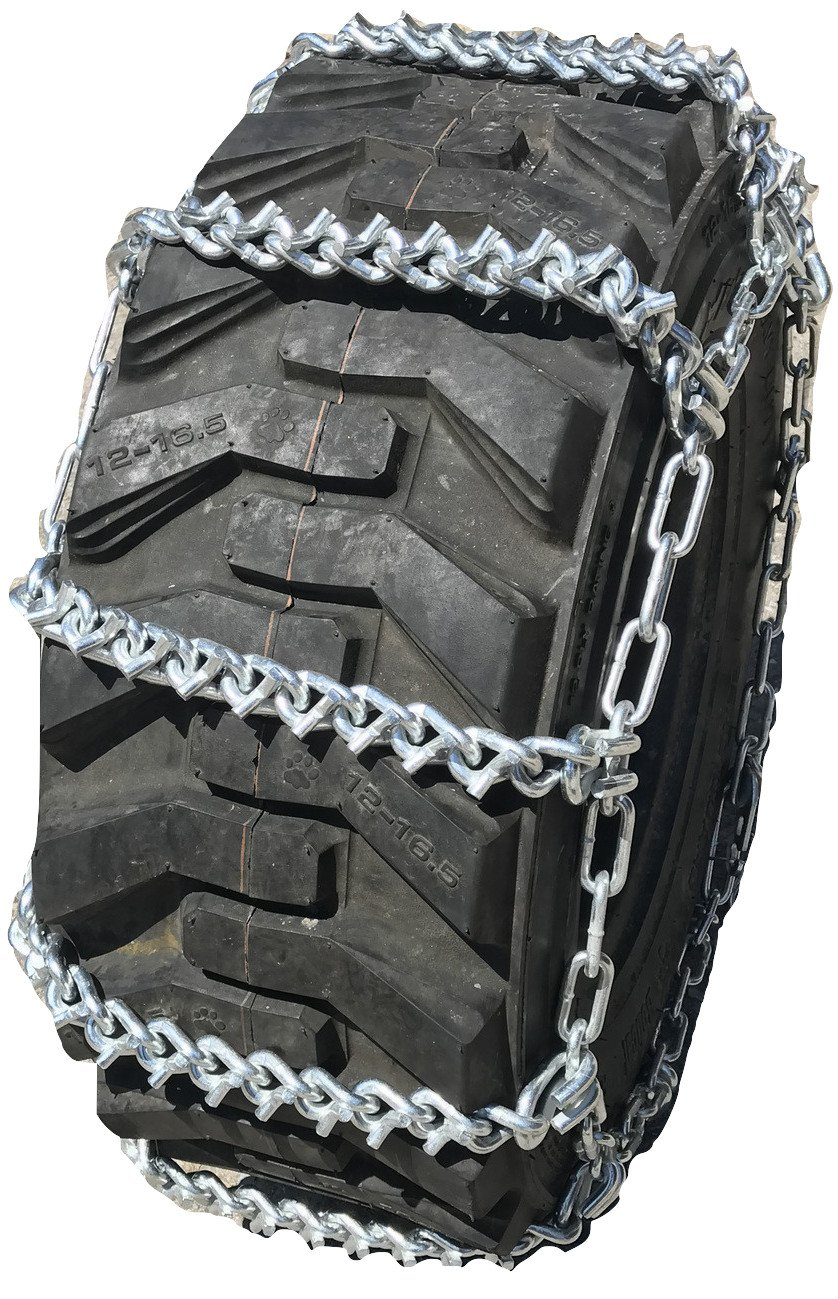 TireChain.com 280/70R20 280/70 20 V-BAR Boron Alloy Ladder Tractor Tire Chains Set of 2