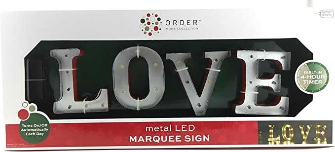 Order Home Collection Love Led Metal Marquee Decor Sign Home Kitchen