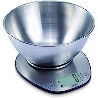 Exzact Premium Bilancia Elettronica da Cucina con Display Grande con Ciotola in Acciaio Inox–5kg/11lb