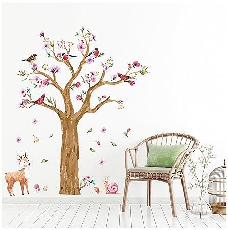 Wandsticker4u Wandtattoo Kinderzimmer Grosser Aquarell Baum