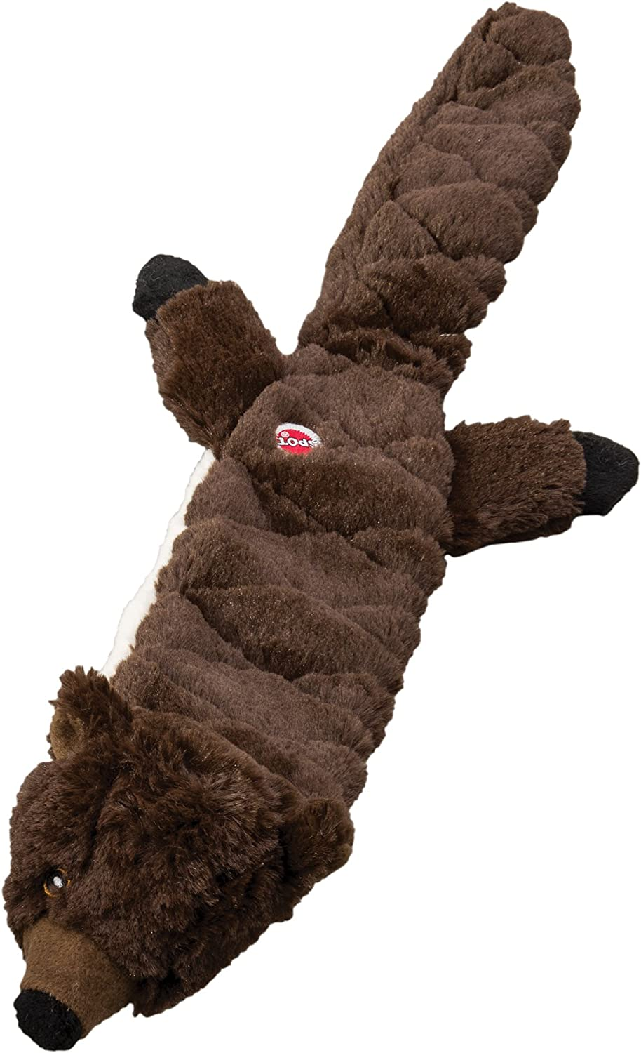 """SPOT Ethical Pets Beaver Skinneeez Extreme Stuffingless Quilted Dog Toy, 23"""""""