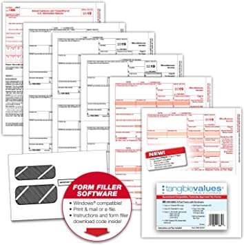 1099 form amazon  Tangible Values Business Solutions 114 Misc Laser Tax Forms (14-Part) Kit  with Env for 14 Vendors + 14 forms, FREE form filler software, Designed  ...