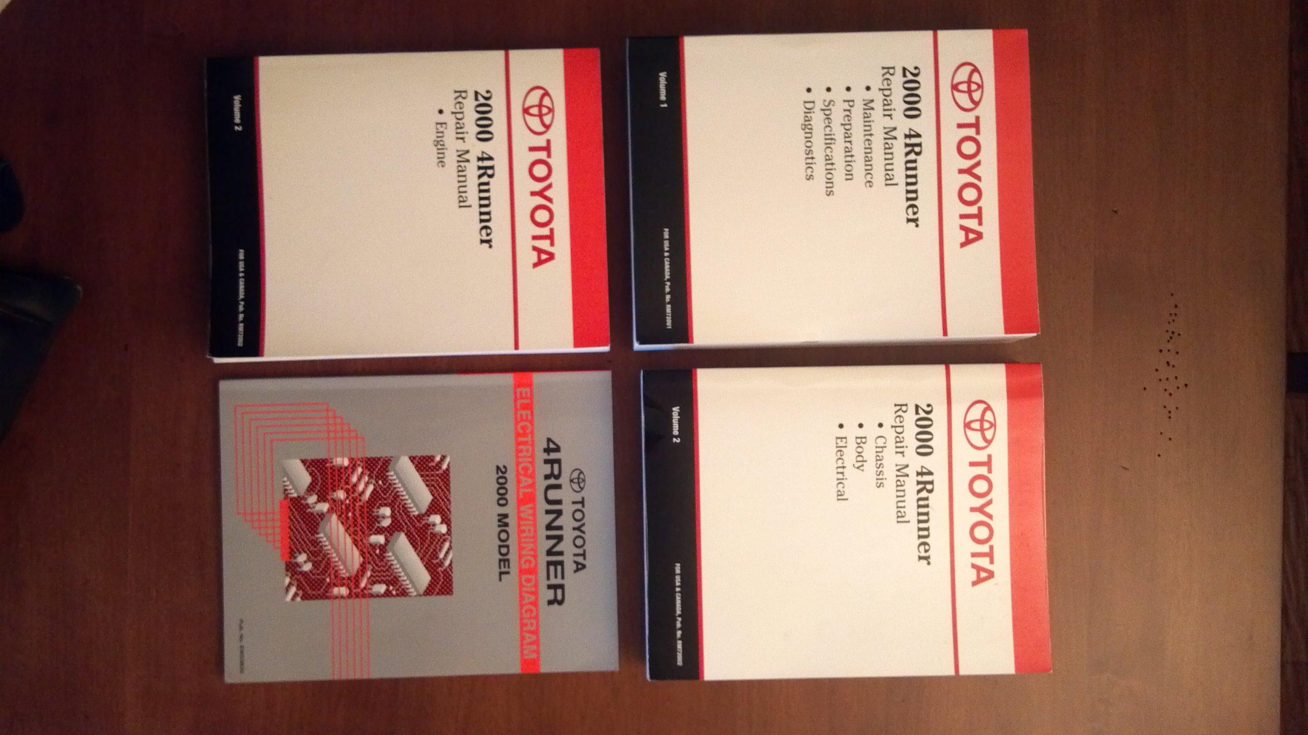 Toyota Motor Corporation 2000 4Runner Manual Set: Toyota