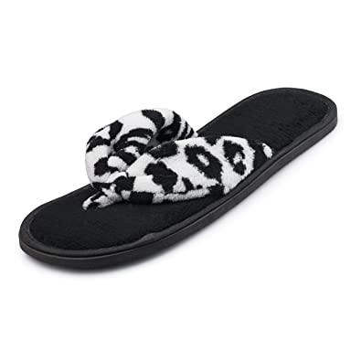 Amazon.com | Extra Soft Memory Foam Thong House Slippers for Women ...