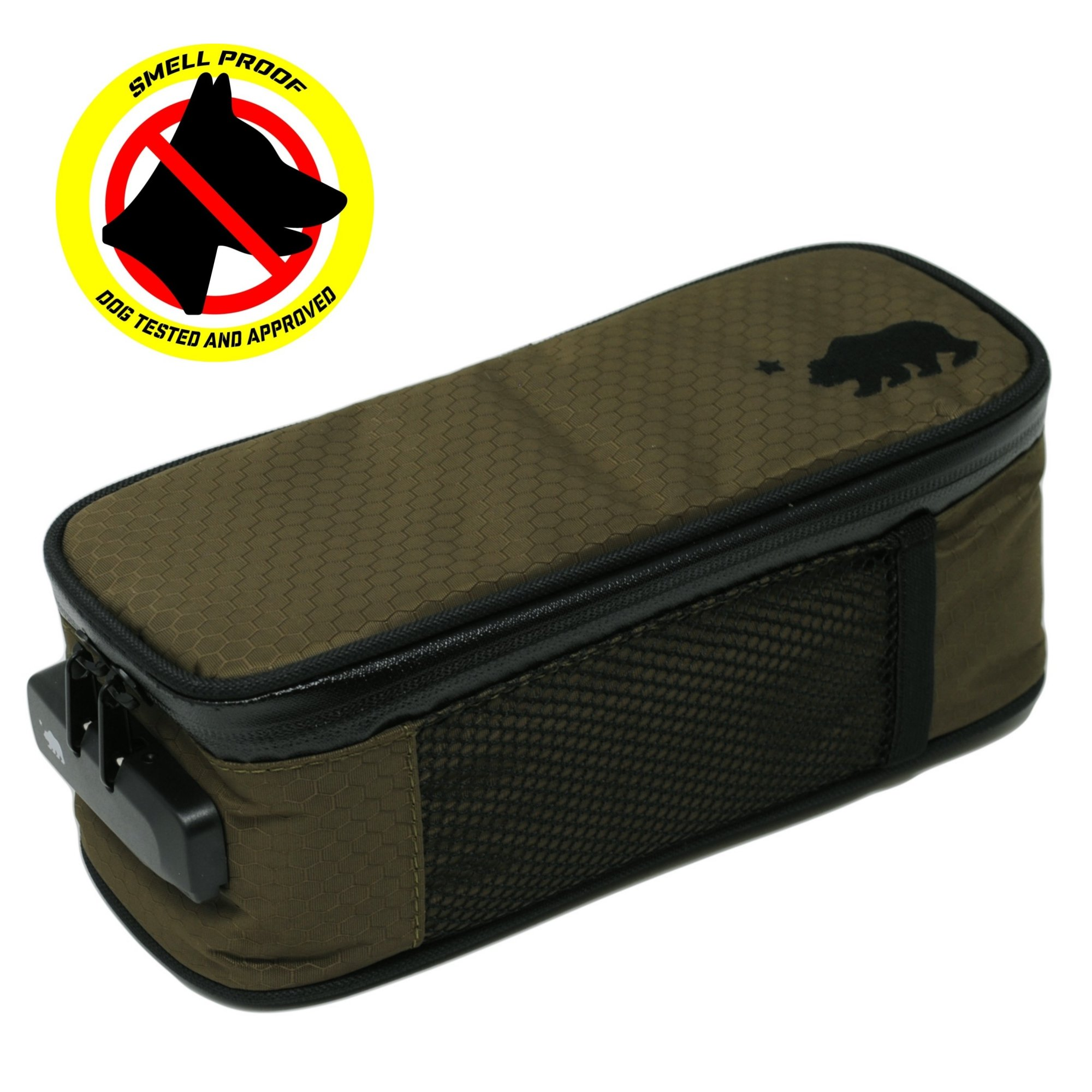 Cali Crusher 100% Smell Proof Soft Case w/Combo Lock (9.5''x4''x3.5'') (Olive Green)