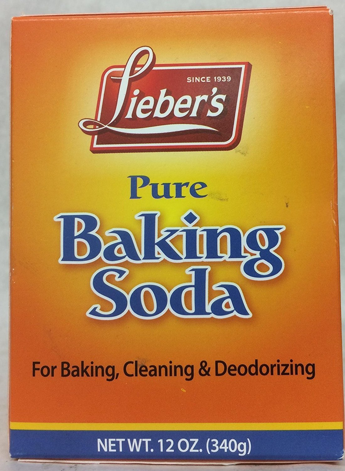 Lieber's Pure Baking Soda For Baking, Cleaning & Deodorizing 12 Oz. Pk Of 3.