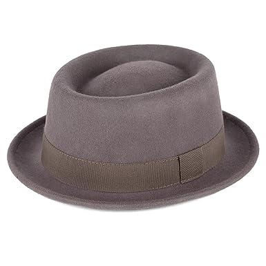 31493f1e737 Amazon.com  Wool Pork Pie Hat Waterproof   Crushable Handmade in ...