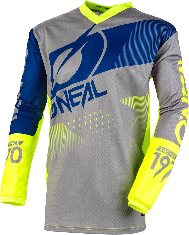Atmungsaktives Material Jersey Element Threat O/'NEAL Erwachsene Passform f/ür maximale Bewegungsfreiheit Enduro Motocross gepolsterter Ellenbogenschutz Jersey