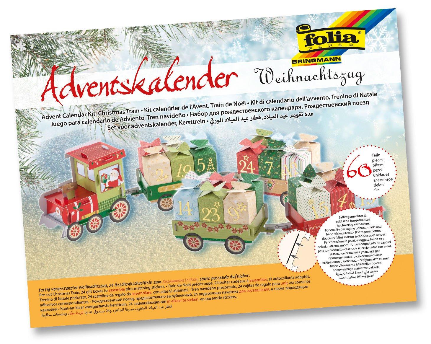 folia 9394 Adventskalender'Weihnachtszug', 60-teilig
