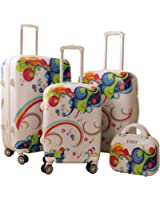Zota Luggage 4 Piece Traveler Hardside Spinner TAS Locks With Free luggage Cover