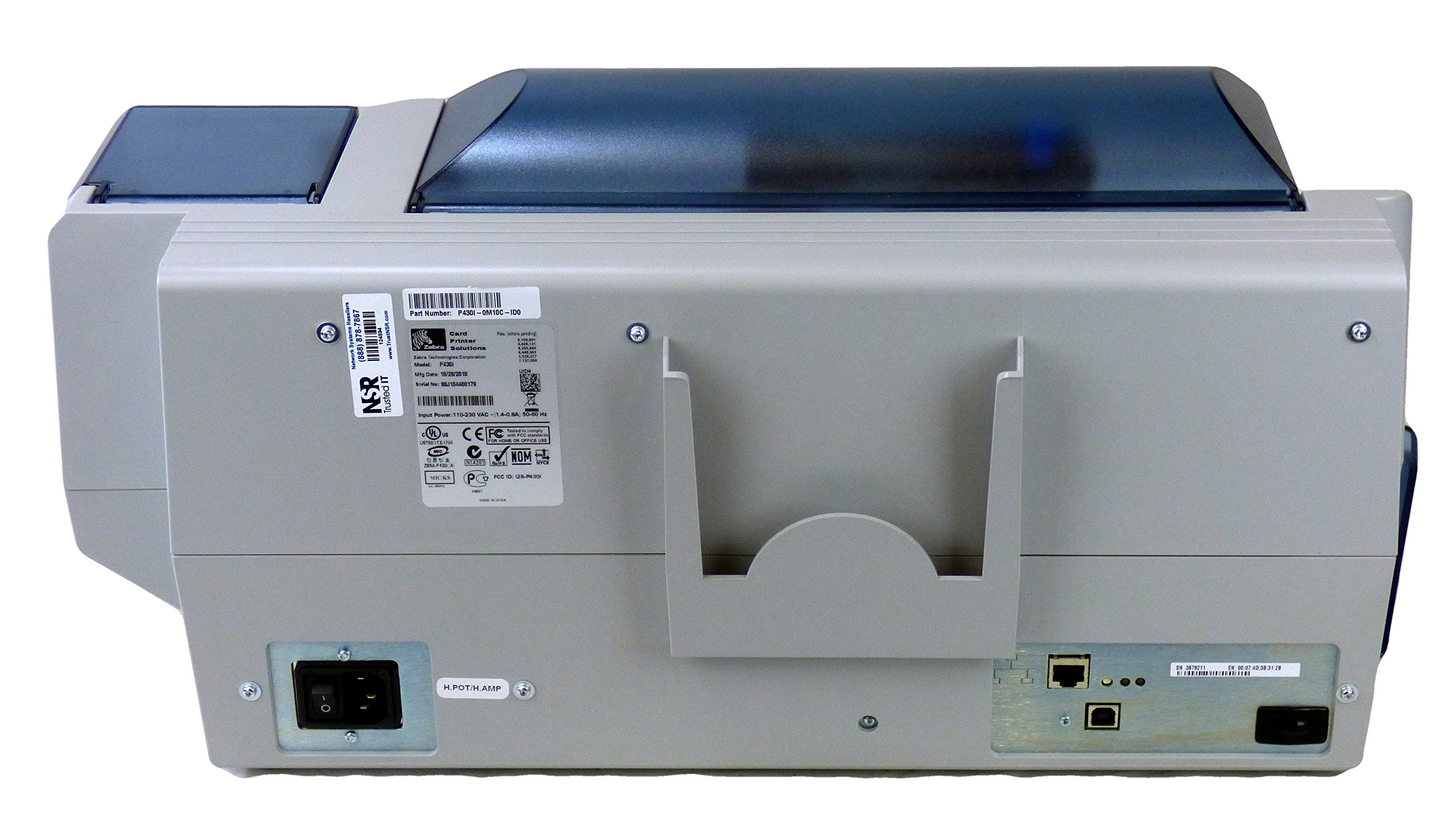 P430i Thermal transfer 300 dpi USB Dual-Sided Color Printing by Zebra Technologies (Image #3)