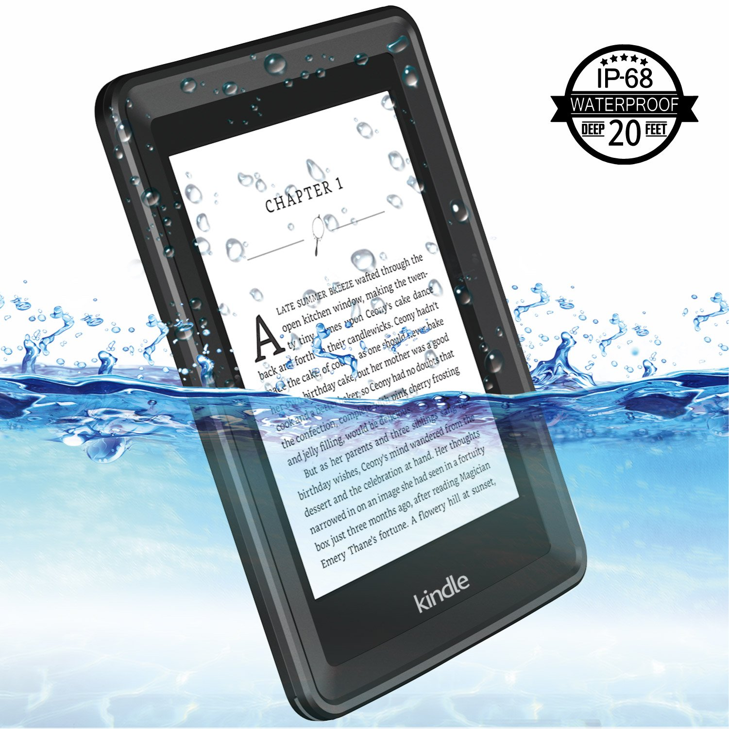 Temdan Kindle Paperwhite Waterproof Case Rugged Sleek Transparent Cover with Built in Screen Protector Waterproof Case for Kindle Paperwhite. by Temdan (Image #2)
