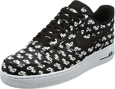 Nike Air Force 1 '07 QS 'All Over Logo' AH8462 001 Size