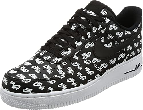 Nike Black Air Force 1 '07 Low Qs for men