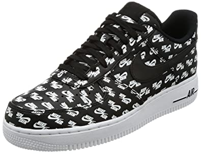 NIKE Men's Air Force 1 Low '07 QS Logo Pack Black/White (8