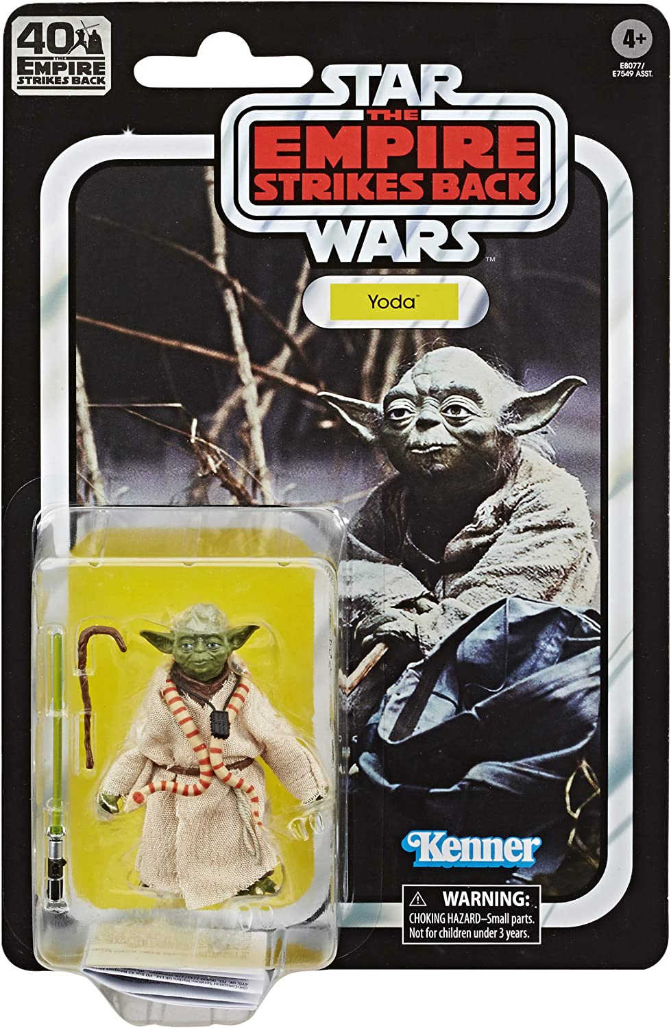 Star Wars The Black Series Yoda 6-inch Scale The Empire Strikes Back 40TH Anniversary Collectible Figure, Kids Ages 4 and Up