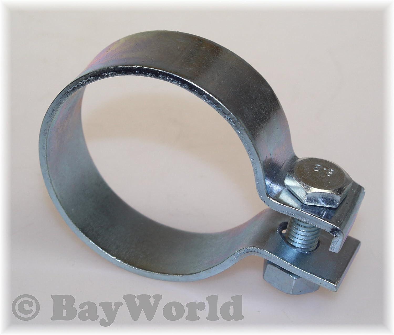 62,5mm Edelstahl V2A Breitbandschelle Auspuffschelle Rohrklemme