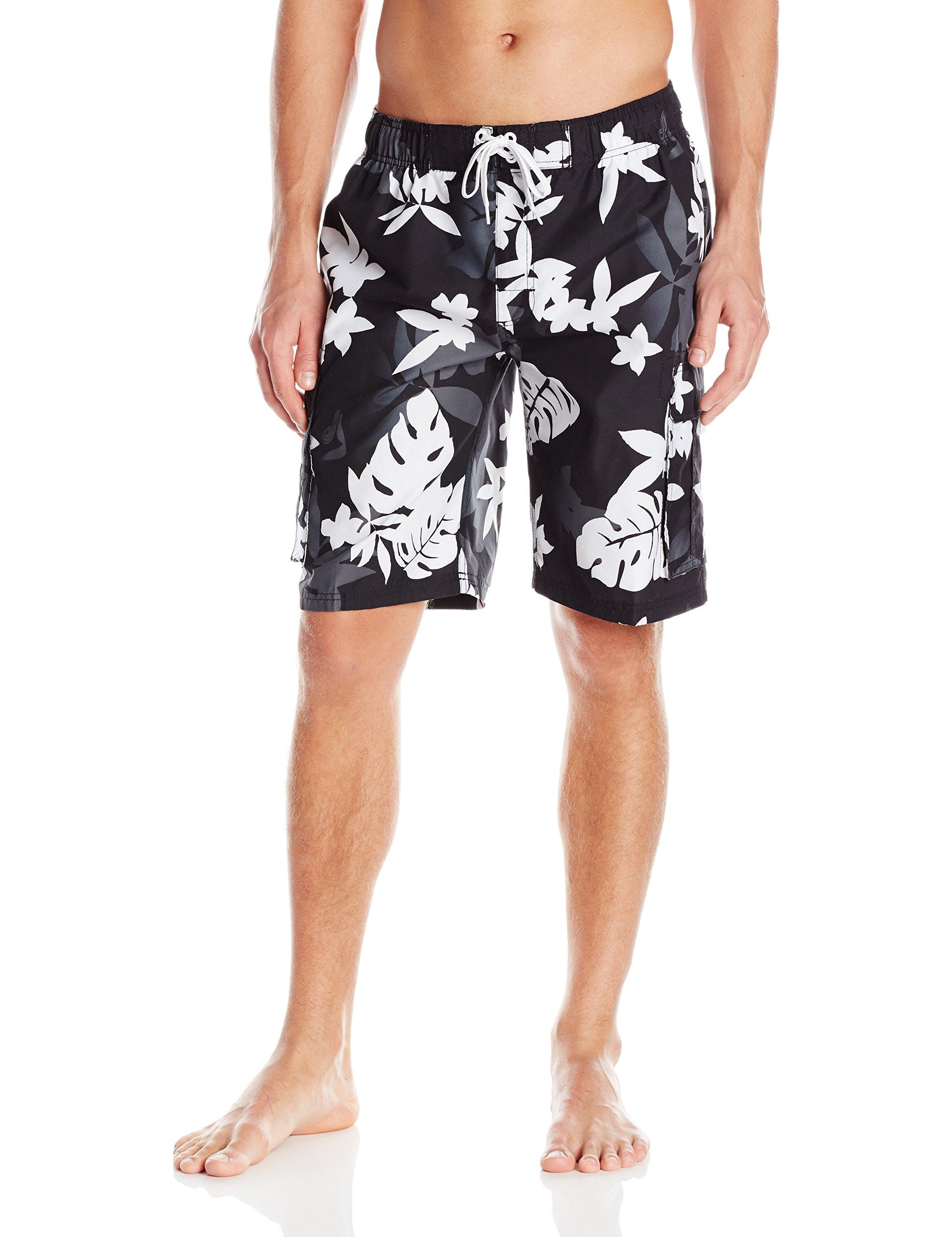 Kanu Surf Men's Voyage Swim Trunks, Black, X-Large