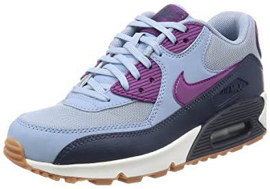 save off 1dae0 092d0 Nike Women's Air Max 90 Essential Blue/Midnight Navy/Grape 616730-403 (