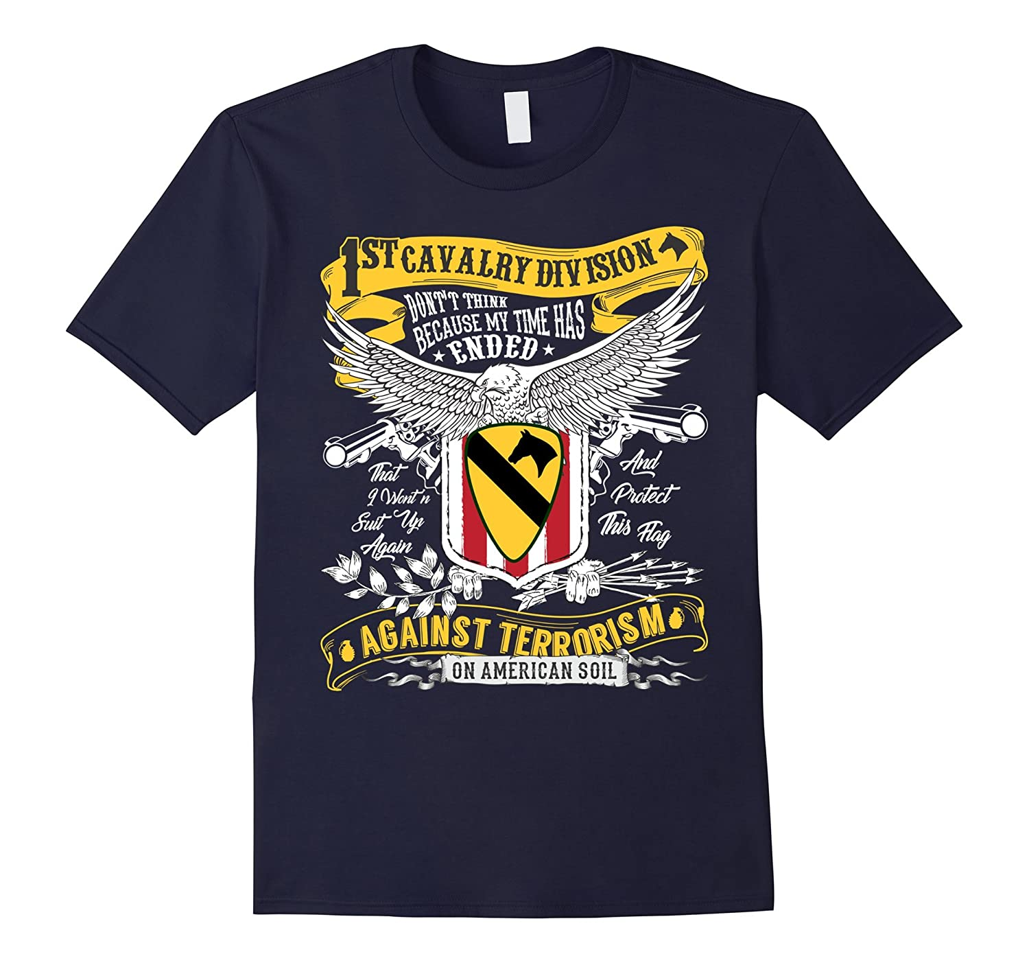 1st Cavalry Division Veteran T-Shirt For Veteran Daddy-TH